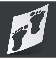 Monochrome footprint sticker vector