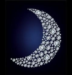 moon shape diamonds vector image