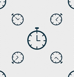 Stopwatch icon sign seamless pattern with vector