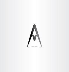 Letter a logo a sign icon black design vector