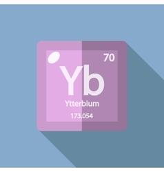 Chemical element ytterbium flat vector