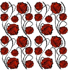 Red roses seamless pattern vector
