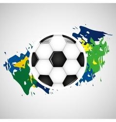 Ball soccer olympic games brazilian flag colors vector