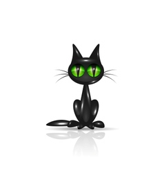 Black cat for your design vector image vector image