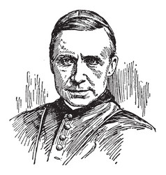 Cardinal james gibbons vintage vector