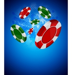 casino back vector image vector image