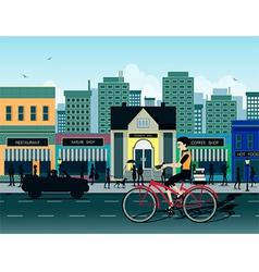 City bike vector