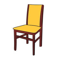 classic wooden chair comic icon vector image