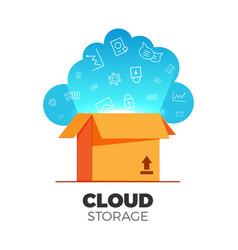 cloud storage vector image vector image