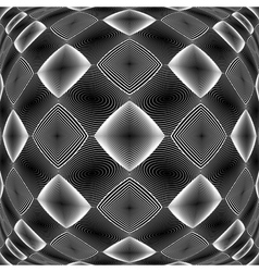Design warped monochrome diamond pattern vector