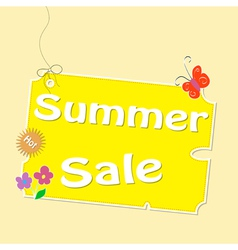 Discount summer labels vector image vector image