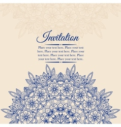 Elegant vintage background with lace ornament vector image vector image