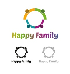 Happy family logo vector image vector image