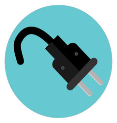 Icon plug label vector image