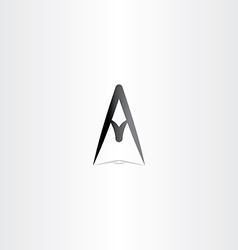 letter a logo a sign icon black design vector image