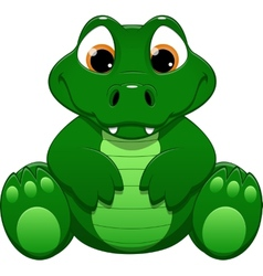 Little crocodile vector image vector image