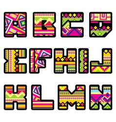 mexican alphabet part 1 vector image vector image