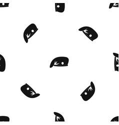 military cap pattern seamless black vector image