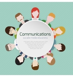People communications icons vector image vector image