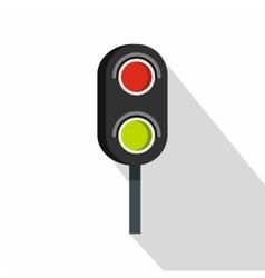 Semaphore trafficlight icon flat style vector image