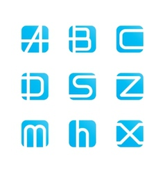 set of letters vector image vector image