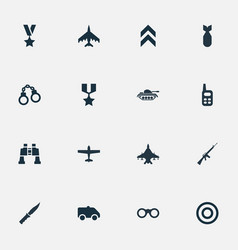 Set of simple terror icons vector