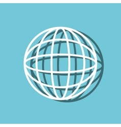 sphere planet web symbol isolated icon vector image vector image
