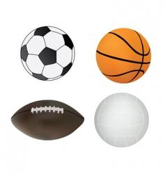 sport balls vector image vector image