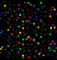 stars isolated on background confetti celebration vector image vector image