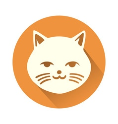 White cat symbol vector image vector image