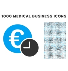 Euro credit icon with 1000 medical business vector