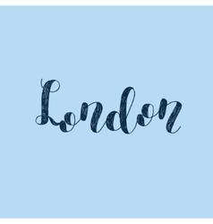 London Brush lettering vector image