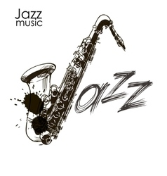 Saxophone jazz legend vector