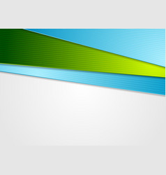 Blue and green abstract corporate background vector