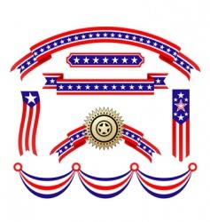 American patriotic ribbons vector