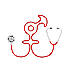 Stethoscope in shape of male and female symbol vector