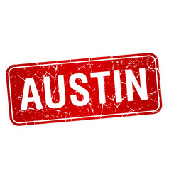 Austin red stamp isolated on white background vector
