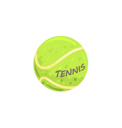 Tennis ball sport equipment cartoon vector