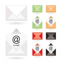 email icon collection vector image