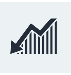 Statistic flat icon vector