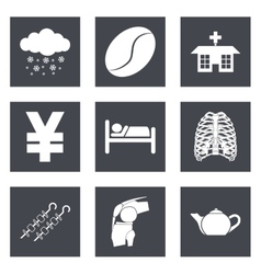 Icons for Web Design and Mobile Applications set 7 vector image