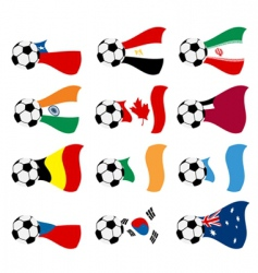 national soccer flags vector image