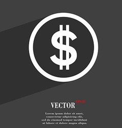 Dollar icon symbol flat modern web design with vector