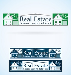 Real estate logo design template color set house vector