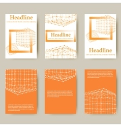 Polygonal design style letterhead and brochure for vector
