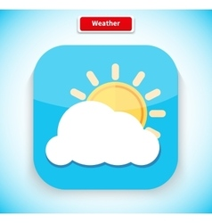 Weather app icon flat style design vector