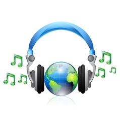 music headphone vector image