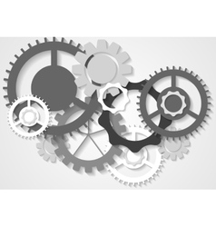 Grey tech gears mechanism background vector