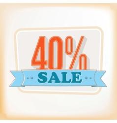 Discount labels 40 vector