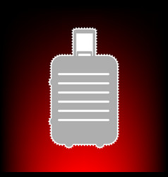 Baggage sign postage stamp or old vector